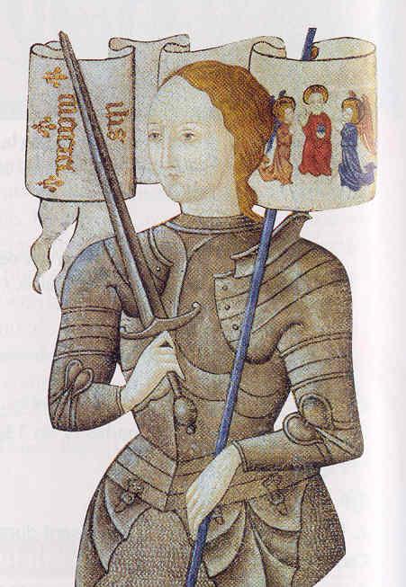 Miniature médiévale Jeanne d'Arc