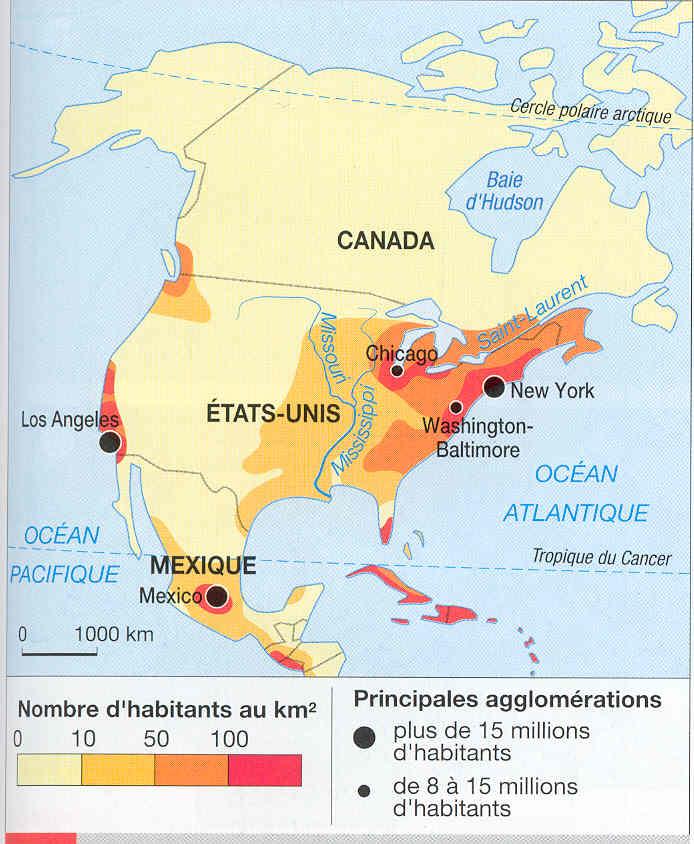 Carte répartition population Etats-Unis manuel Hâtier p; 218