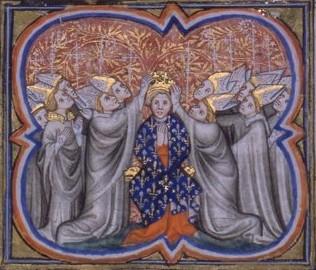 Miniature médiévale - sacre Philippe Auguste