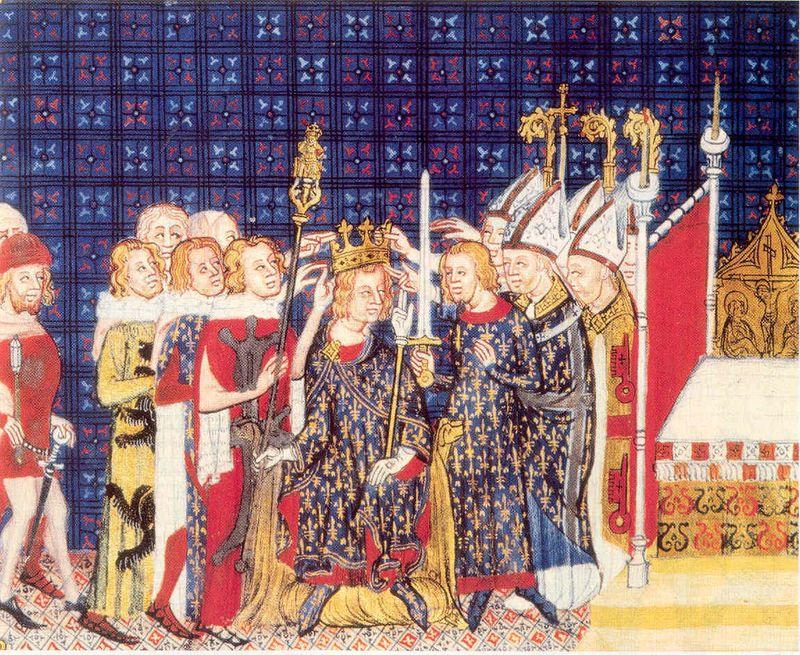 Miniature médiévale - sacre Charles V