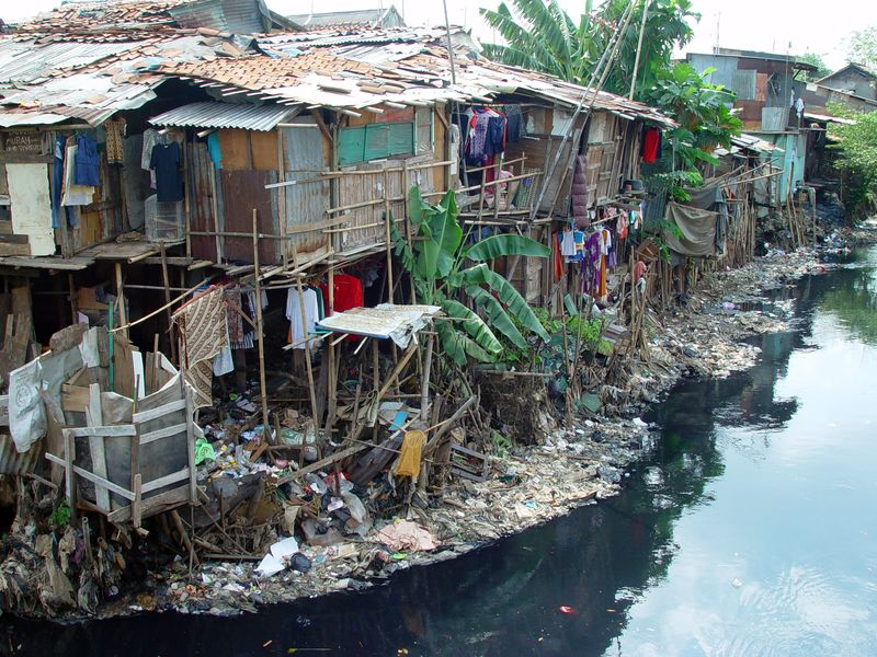 Photographie - Bidonville Jakarta