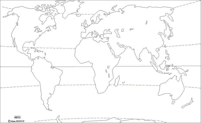 Fond de carte Monde