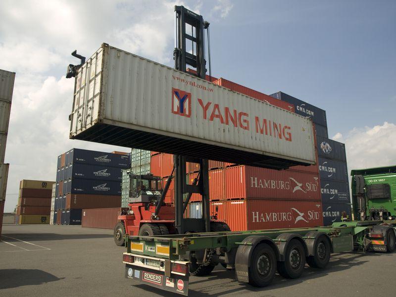 Photographie - intermodalité port au camion