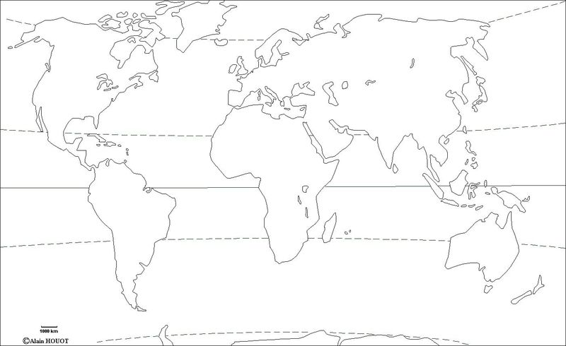 Fond de carte Monde vide