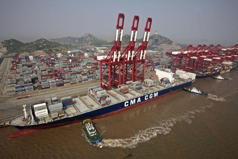 Photographie - port de Yanshan + CMA CGM