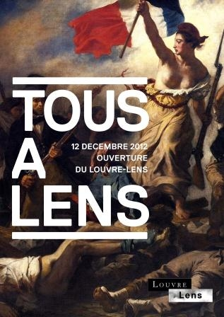 Photographie - affiche inauguration Louvre-Lens