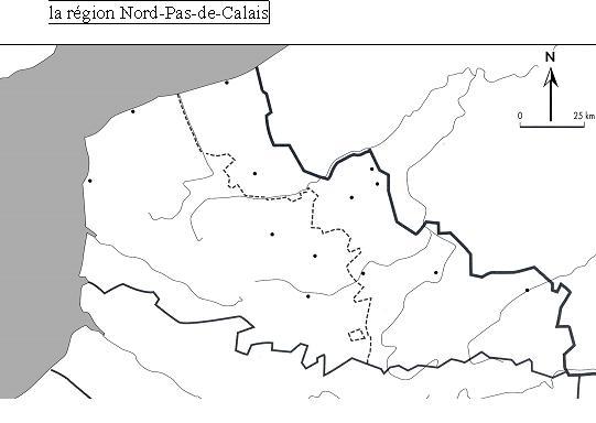 Fond de carte - Nord Pas de Calais