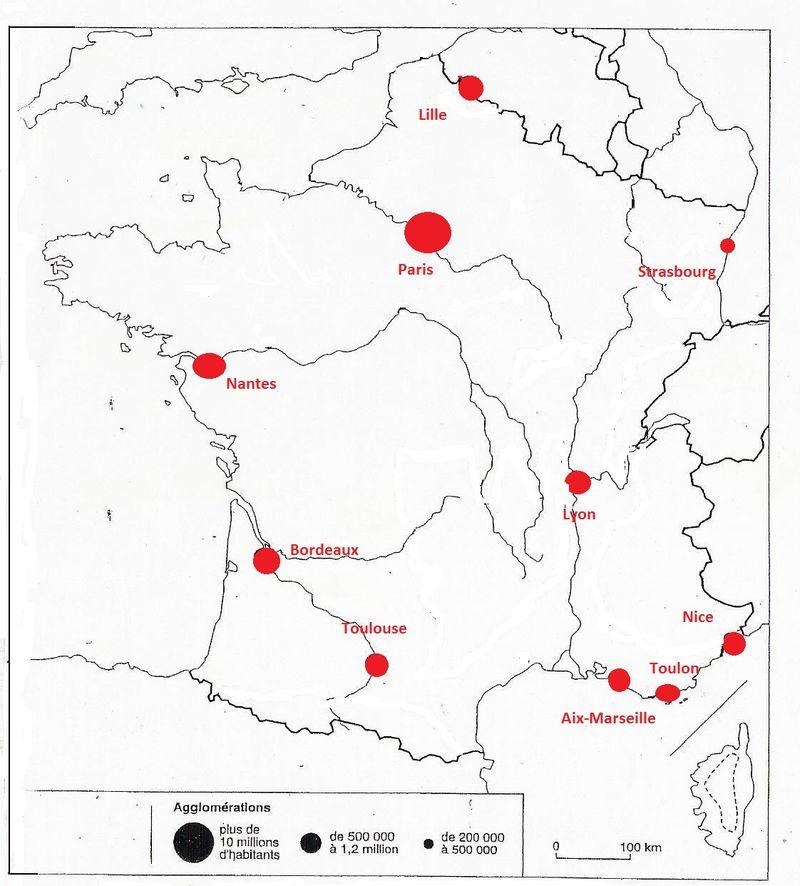 France - agglomérations