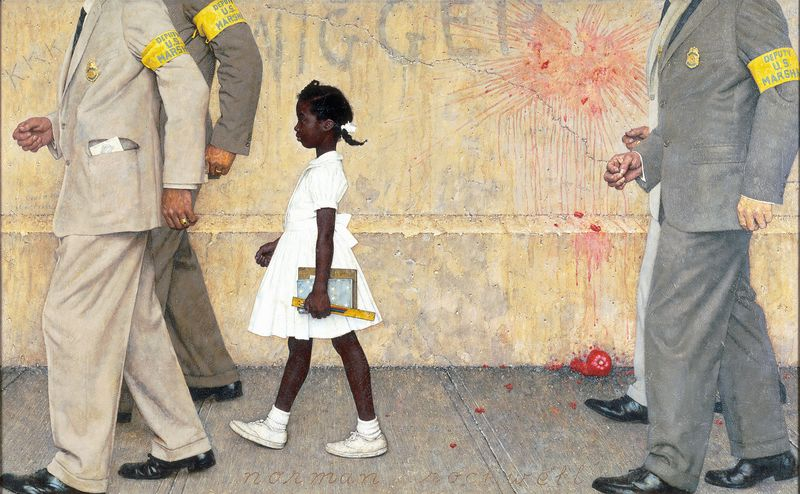 Photographie - Norman Rockwell The problem we all live with 1964