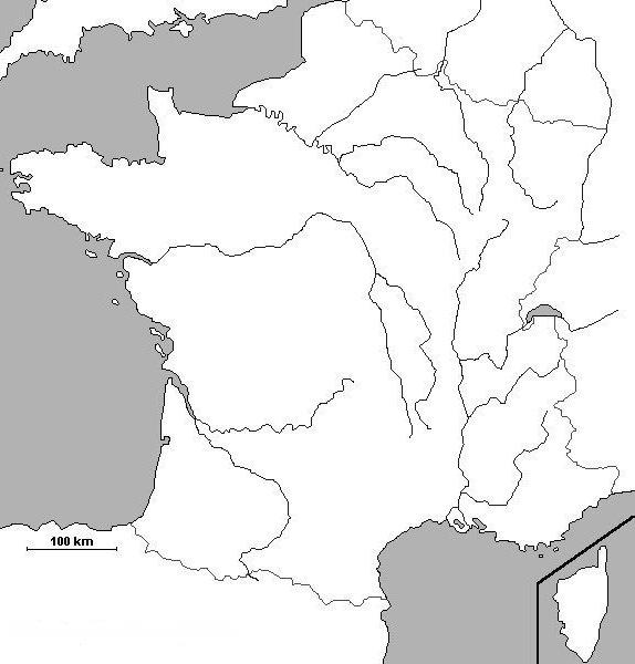 Fond de carte - France fleuve
