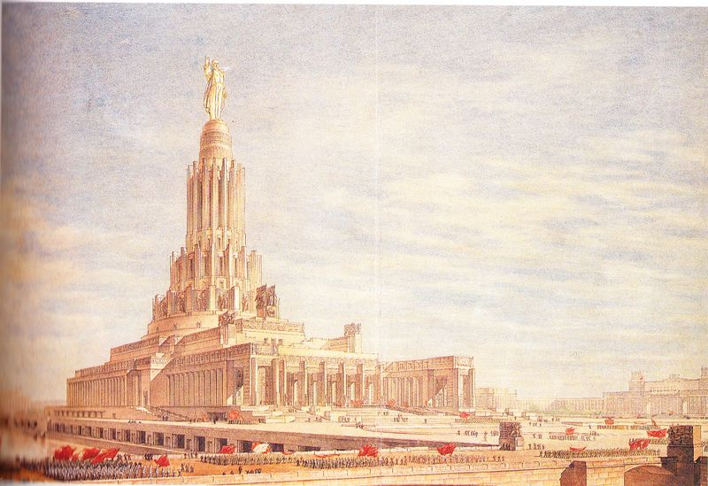 L 39 architecture totalitaire le palais des soviets for Architecture totalitaire