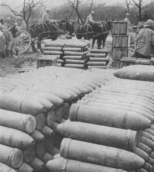 Photographie - Bataille de Verdun Obus