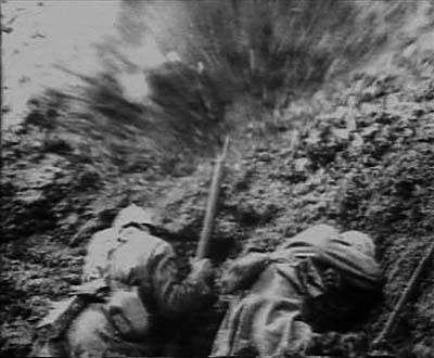 Photographie - Bataille de Verdun Explosions bombe