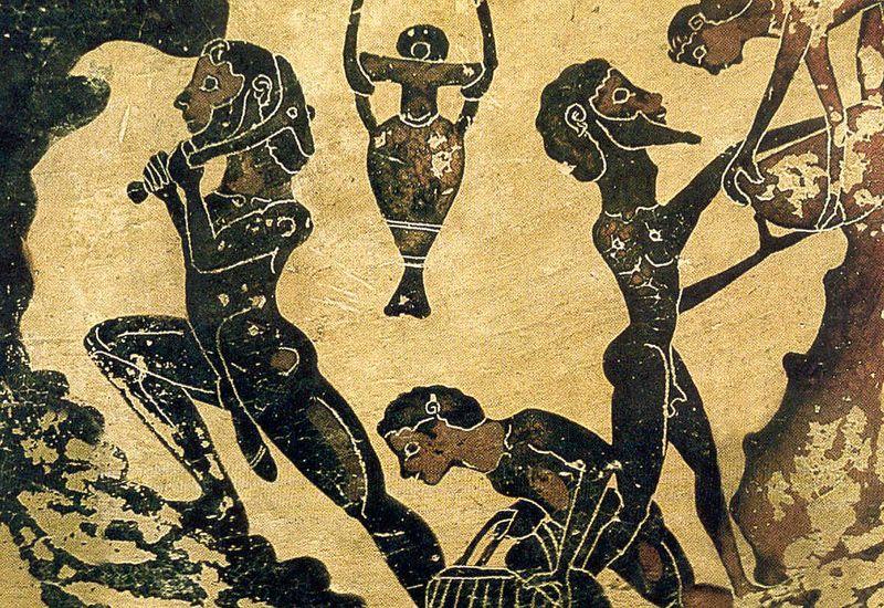 Photographie esclaves dans les mines de Larions