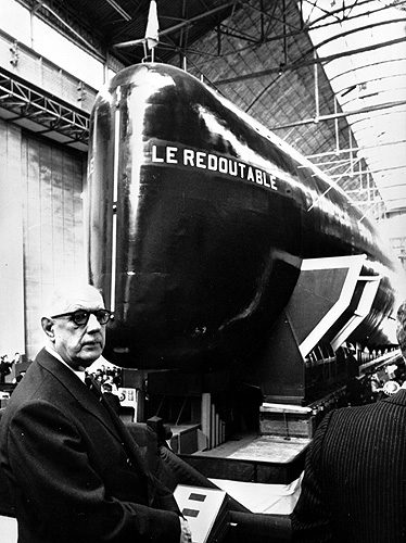 Photographie - inauguration du Redoutable 1967