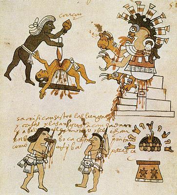 Huitzilopochtli-sacrifice