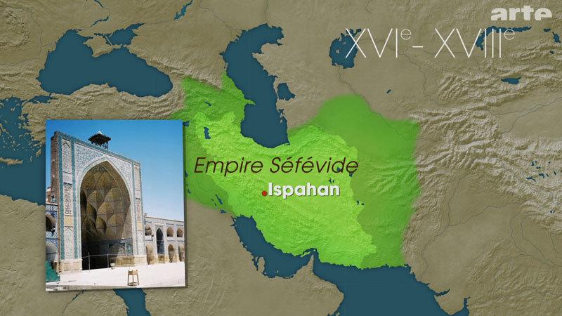 Carte - Séfévides XVI-XVIIIe