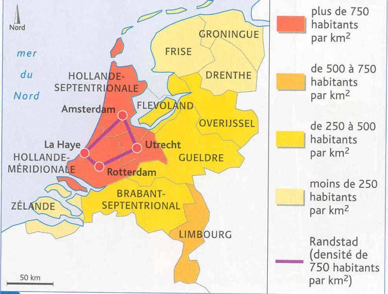 Carte - densité Pays-Bas