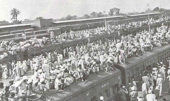 Photographie mouvement de population en Inde