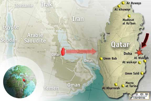 Map - Qatar