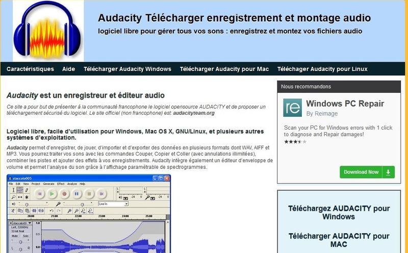 Audacity téléchargement