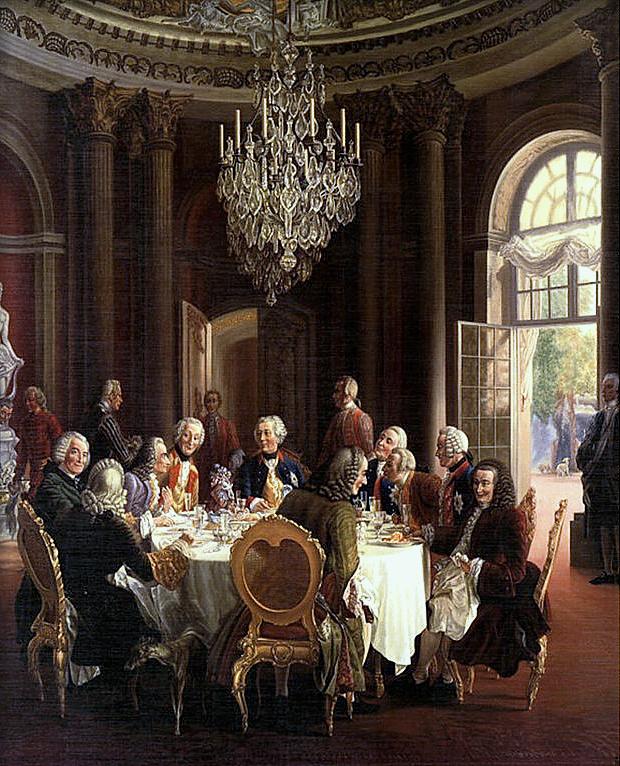La table ronde Voltaire Frédéric II 1850