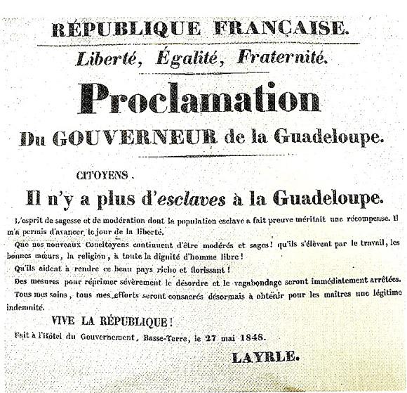 Texte - abolition de l'esclavage 1848