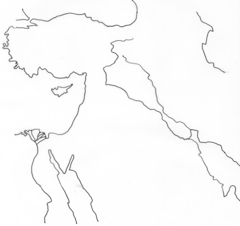 Fond de carte - Orient ancien