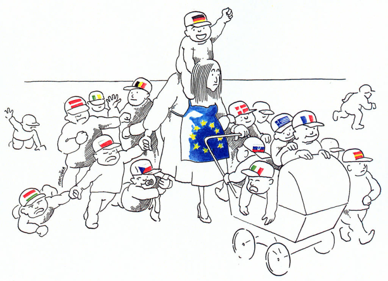 Carictaure - conflit euro
