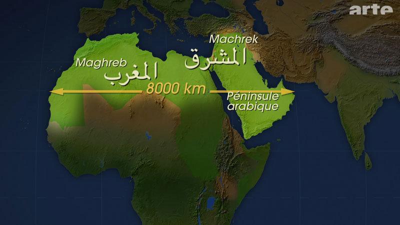 Carte - Le monde arabe