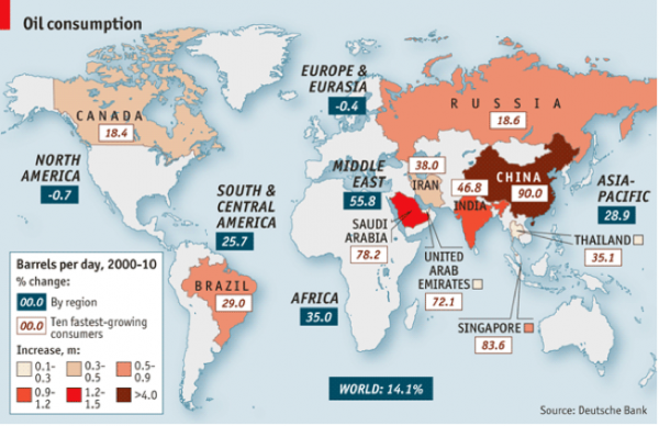 Map - Oil consumption