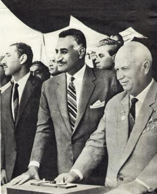 Photographie - Nasser et Khrouchtchev