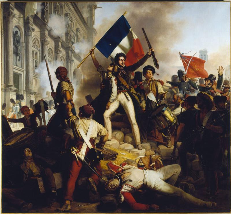 Juillet 1830 - combat devant l'hôtel de ville