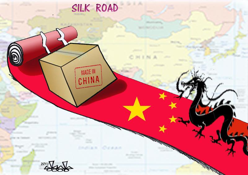Carictaure - Puissance chinoise routes de la soie