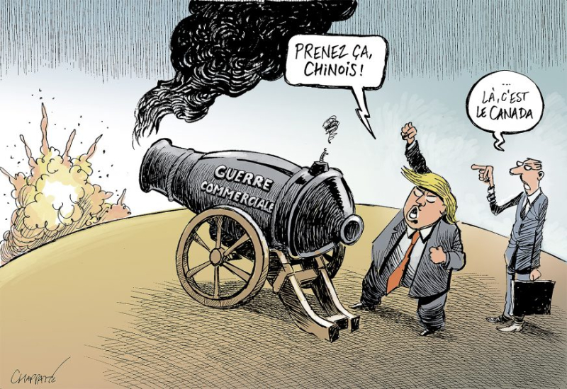 Carictaure - guerre commerciale Chine-USA