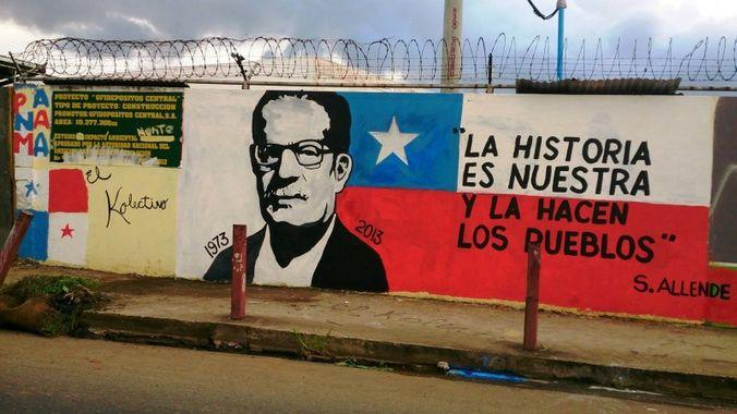 Salvador Allende murales