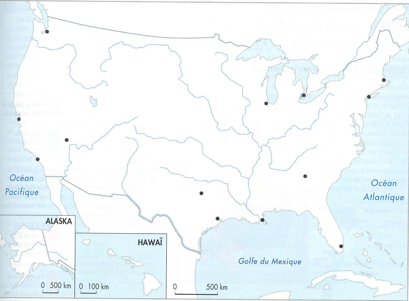 Carte Des Etats Unis Sans Les Villes